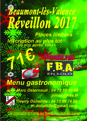 Reveillon de la saint sylvestre ville de beaumont l s for Piscine beaumont les valence